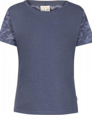 Хлопковая футбольная синяя прямая спортивная футболка Merrell