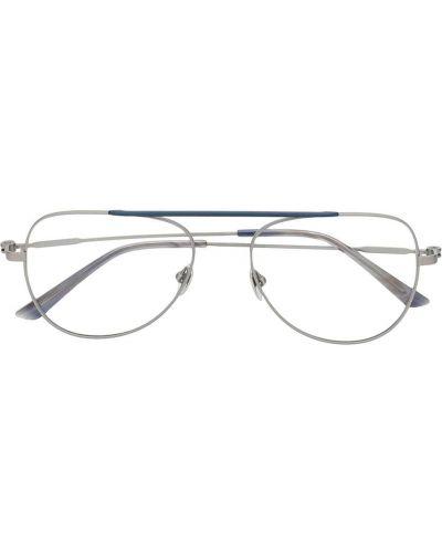 Okulary srebrne Calvin Klein
