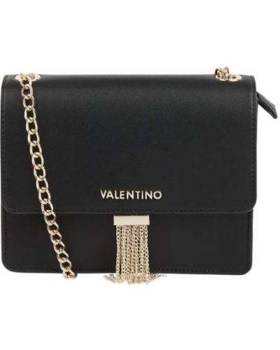 Czarna torba na ramię w paski Valentino By Mario Valentino