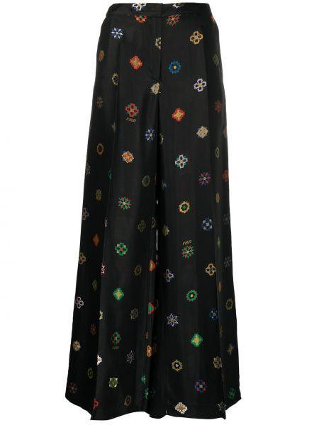 Czarne spodnie z wiskozy Kirin