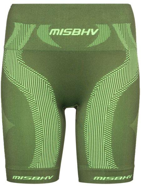 Z wysokim stanem zielony sport szorty rozciągać żakard Misbhv