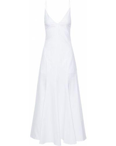 Открытое белое платье макси с открытой спиной Khaite