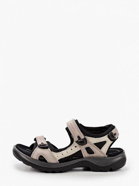 Серые сандалии из нубука Ecco