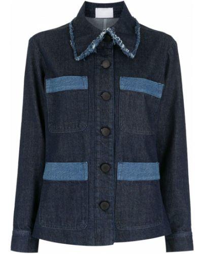 Синяя джинсовая куртка с воротником Andrea Bogosian