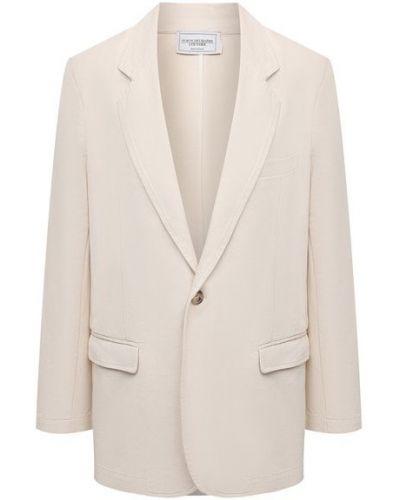 Хлопковый пиджак - бежевый Forte Dei Marmi Couture