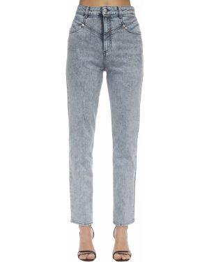 Прямые синие джинсы с высокой посадкой Stella Mccartney