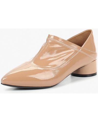 Туфли на каблуке кожаные розовый Chezoliny