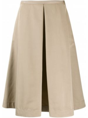 Прямая юбка миди со складками в рубчик Piazza Sempione