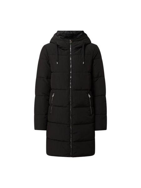 Czarny płaszcz z kapturem Only