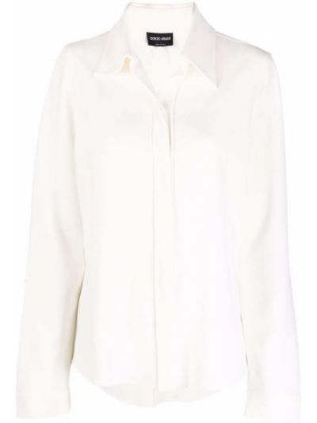 Белая рубашка с манжетами Giorgio Armani