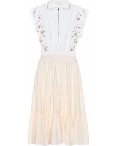 Платье мини миди с вышивкой Chloé