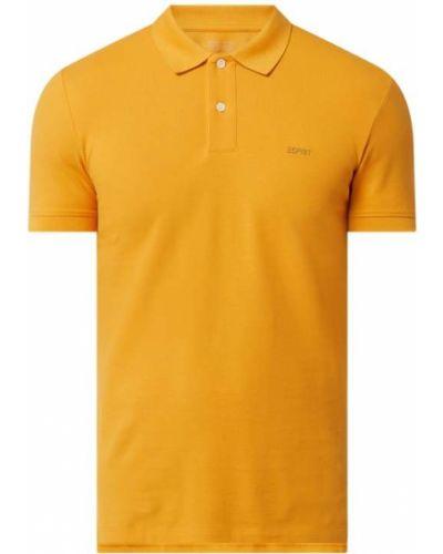 Pomarańczowy t-shirt bawełniany Esprit