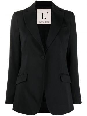 Однобортный черный классический пиджак на пуговицах L'autre Chose