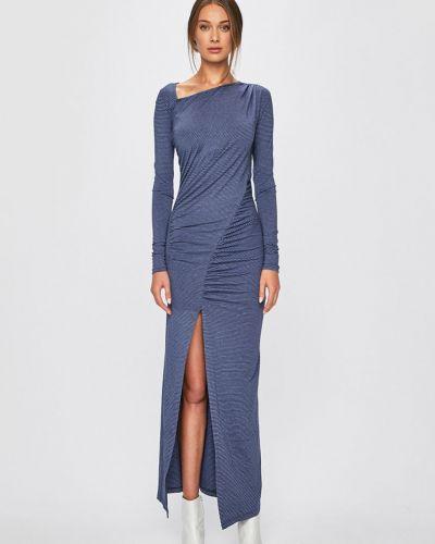 Платье макси с длинными рукавами со складками Answear