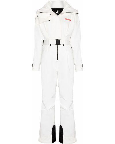 Biały garnitur zapinane na guziki z długimi rękawami Cordova