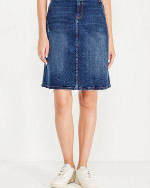 Джинсовая юбка широкая синяя H.i.s.