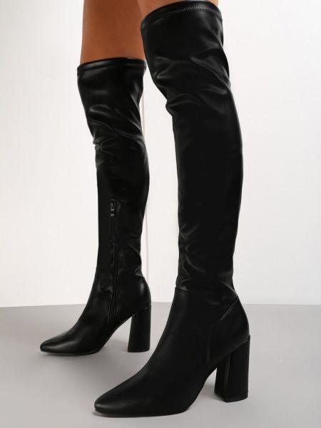 Kozaki za kolano - czarne Renee