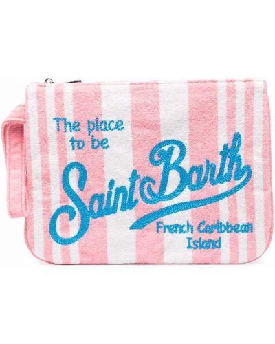 Розовый с ремешком клатч на молнии Mc2 Saint Barth Kids