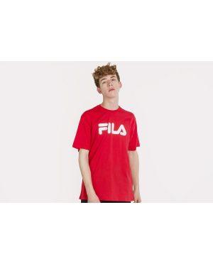 Klasyczny czerwony t-shirt bawełniany Fila