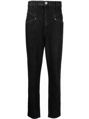 Klasyczne mom jeans - czarne Isabel Marant