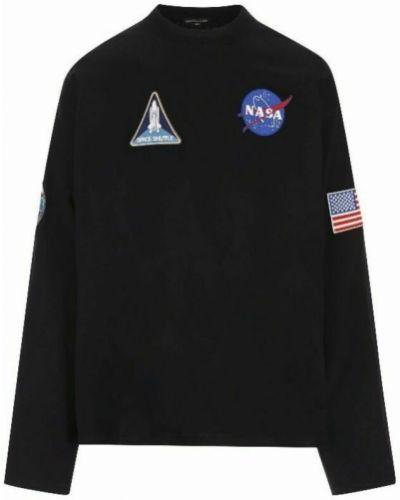 T-shirt bawełniana - czarna Balenciaga