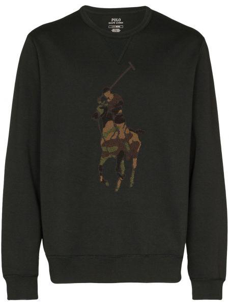 Bawełna akryl czarny koszulka polo z długimi rękawami Polo Ralph Lauren