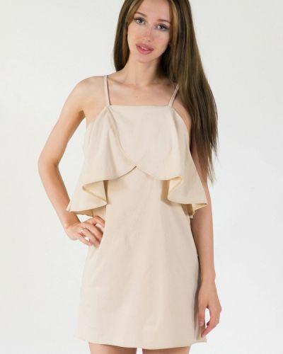 Платье весеннее бежевое Подіум