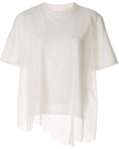 Рубашка с коротким рукавом с сеткой с лебяжьим пухом Paskal