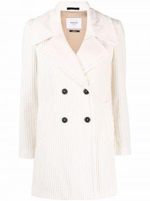 Biały płaszcz bawełniany Palto