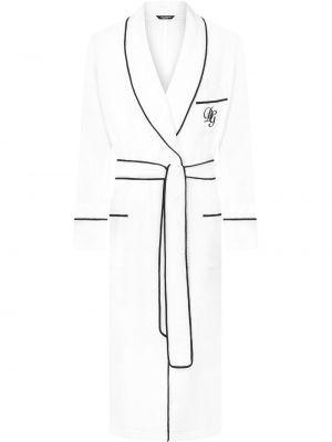 Długi szlafrok - biały Dolce And Gabbana