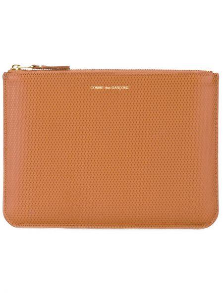 Brązowy portfel skórzany Comme Des Garçons Wallet
