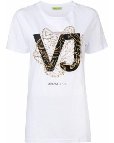 Футбольная футболка со стразами Versace Jeans