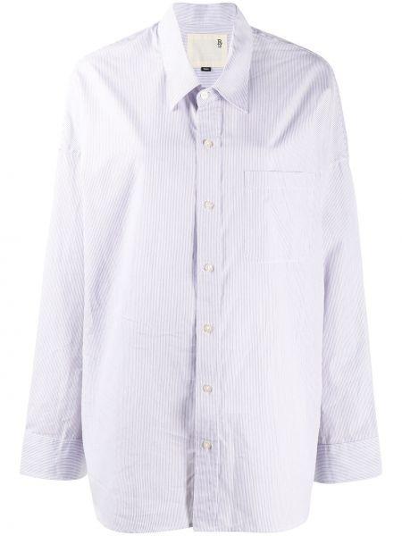 Классическая рубашка с манжетами с воротником с карманами с заплатками R13