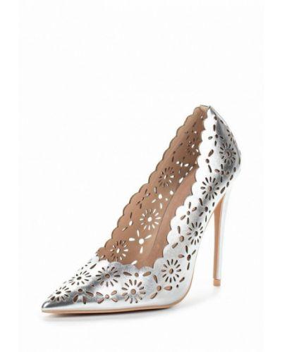 Кожаные туфли серебряного цвета Lost Ink.