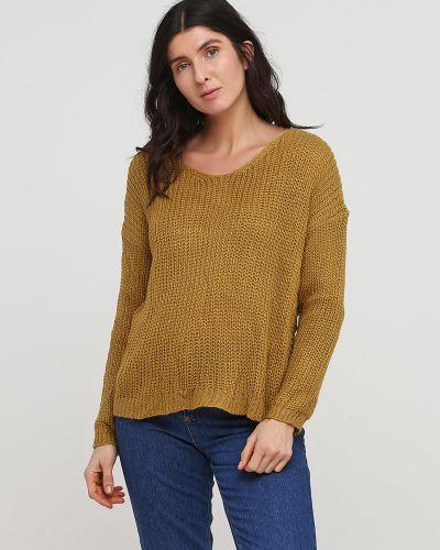 Укороченный свитер - желтый No Brand