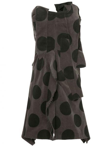 Серое платье винтажное со спущенными плечами без бретелек Comme Des Garçons Pre-owned