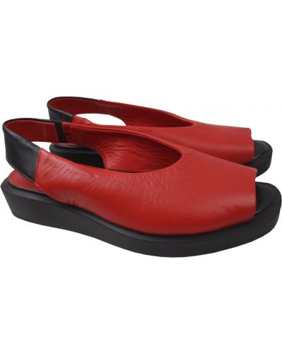 Кожаные босоножки - красные Trio Trend