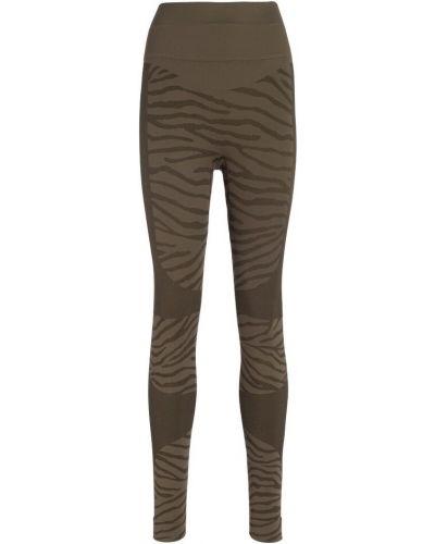 Brązowe legginsy Adidas By Stella Mccartney