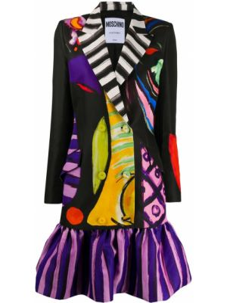 Sukienka z długim rękawem czarny Moschino