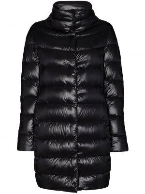 Хлопковая с рукавами черная длинная куртка с карманами Herno