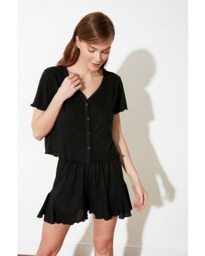 Piżama - czarna Trendyol