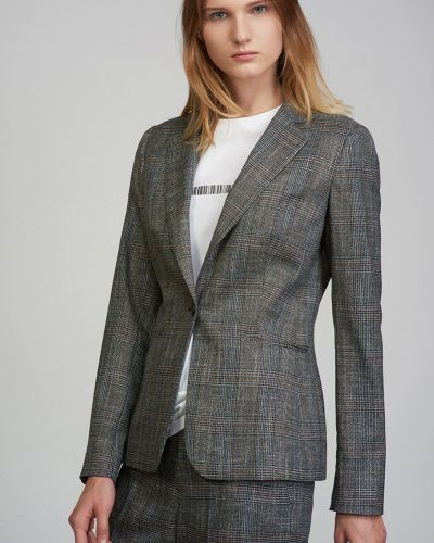 Пиджак в клетку - серый Vassa&co