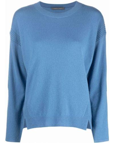Синяя шерстяная кофта Alberta Ferretti