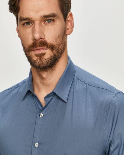 Koszula slim bawełniana elegancka z długimi rękawami Calvin Klein