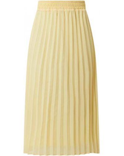 Żółta spódnica plisowana rozkloszowana z szyfonu Kaffe