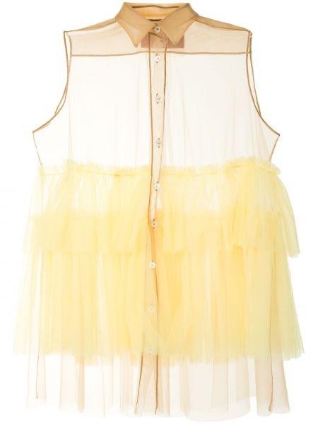 Классическая блузка с длинным рукавом с оборками с воротником из фатина Viktor & Rolf