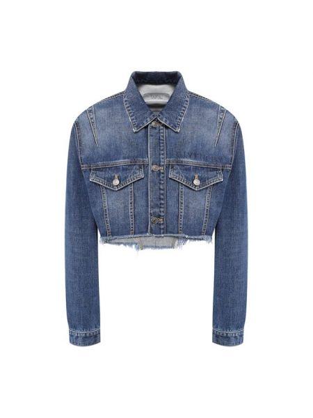 Джинсовая куртка с бахромой футбольный Givenchy