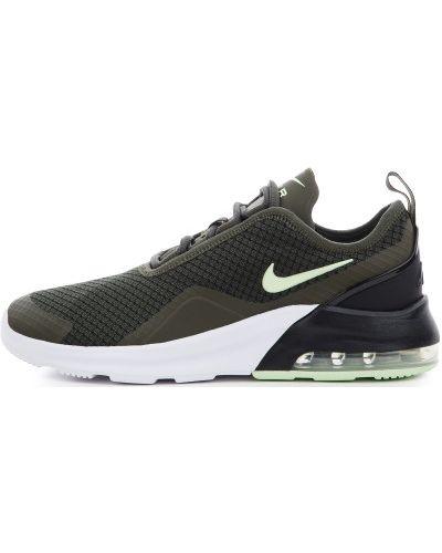 Текстильные зеленые кроссовки на шнуровке Nike