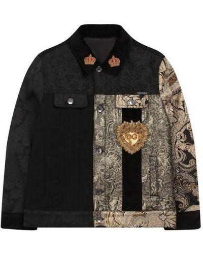 Куртка черная джинсовая Dolce & Gabbana