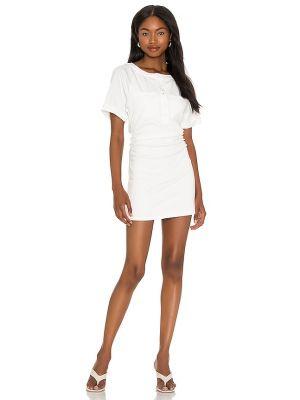 Текстильное белое платье мини с оборками Lovers + Friends